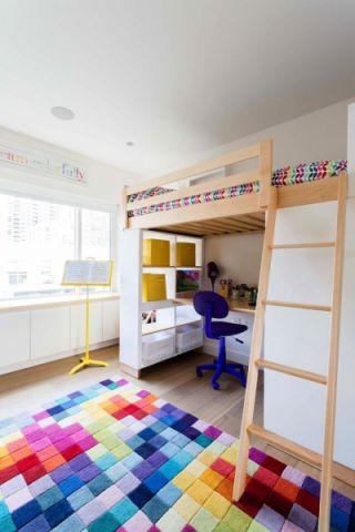 儿童房北欧风格效果图大全2017图片_土拨鼠简约沉稳儿童房北欧风格装修设计效果图欣赏