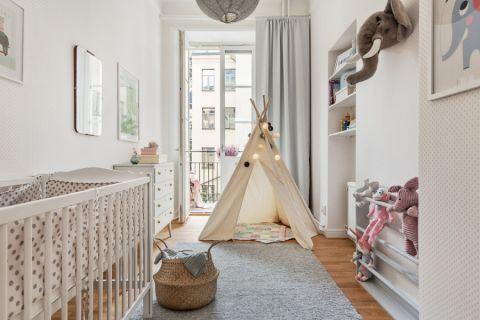 儿童房北欧风格效果图大全2017图片_土拨鼠干净优雅儿童房北欧风格装修设计效果图欣赏