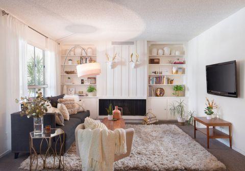 客厅北欧风格效果图大全2017图片_土拨鼠潮流时尚客厅北欧风格装修设计效果图欣赏