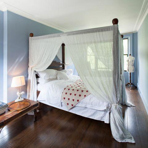 卧室简欧风格效果图大全2017图片_土拨鼠温暖清新卧室简欧风格装修设计效果图欣赏