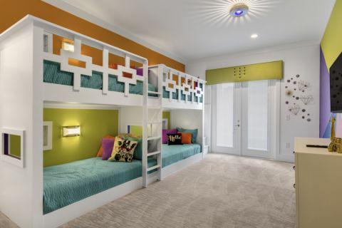 儿童房现代风格效果图大全2017图片_土拨鼠唯美温馨儿童房现代风格装修设计效果图欣赏