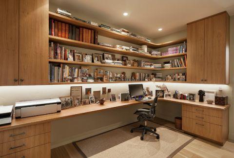 书房地中海风格效果图大全2017图片_土拨鼠奢华质感书房地中海风格装修设计效果图欣赏
