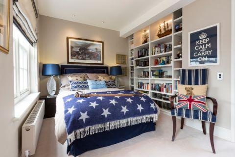 混搭卧室乳胶漆床案例图片