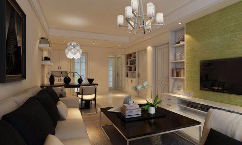 合肥中铁国际城品园90平米简约风格二居室装修效果图