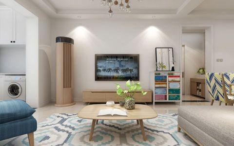 2020简中90平米效果图 2020简中三居室装修设计图片