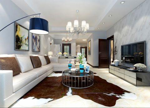 国风美唐88平米三居室现代简约风格装修效果图