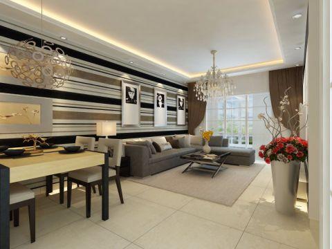 万和城119平方三居室现代简约装修效果图