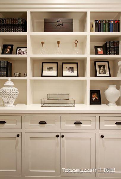 客厅白色书架美式风格装修效果图