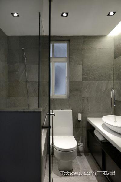 浴室灰色背景墙北欧风格装饰图片