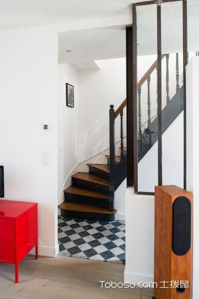 客厅黄色楼梯北欧风格效果图