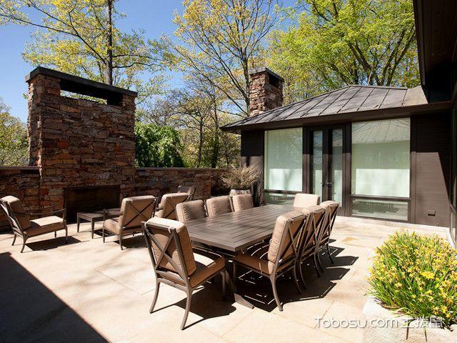 阳台黄色地板砖现代风格装修设计图片