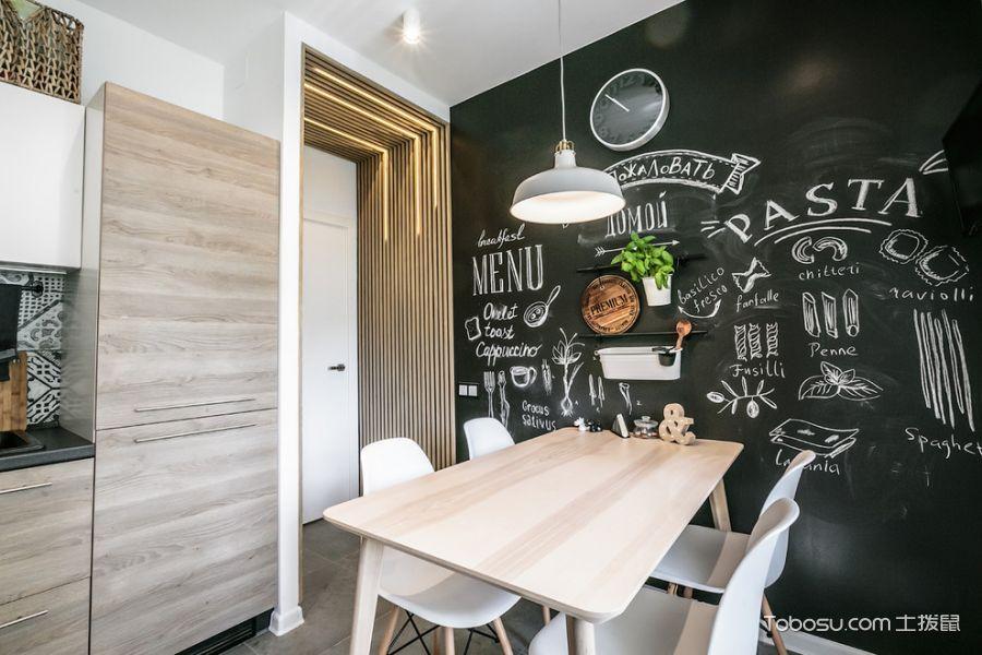 厨房黑色背景墙北欧风格装潢设计图片