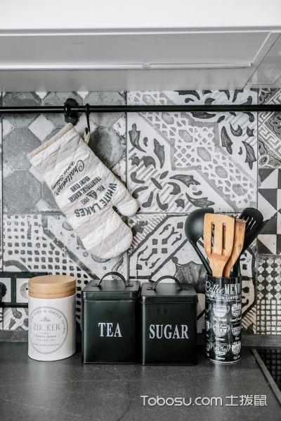 厨房黑色背景墙北欧风格装修效果图