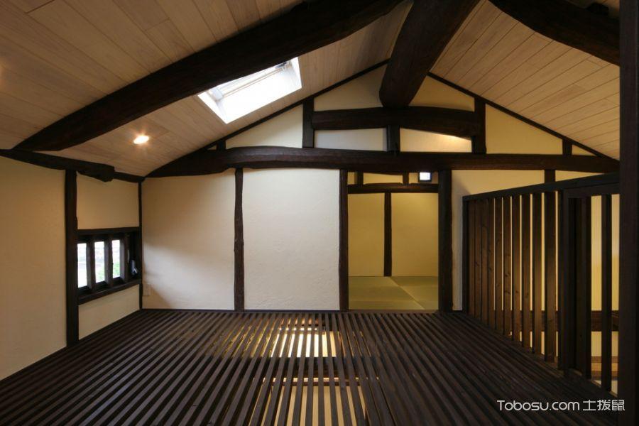 客厅黄色吊顶日式风格效果图