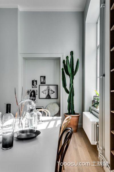 餐厅白色照片墙北欧风格装潢设计图片