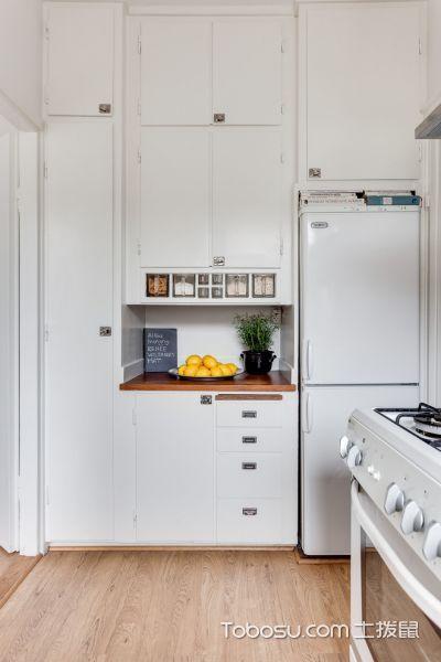 厨房黄色地板砖北欧风格装潢图片