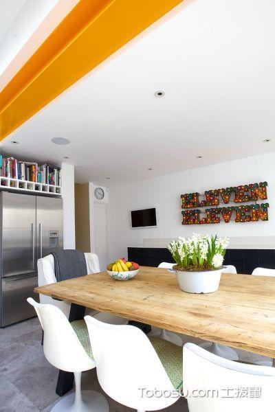 厨房白色背景墙混搭风格装修设计图片