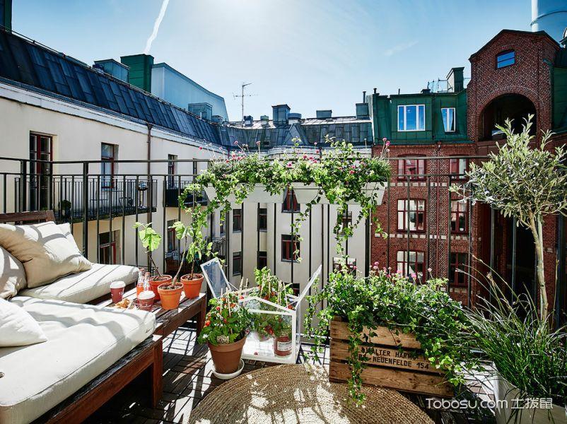 阳台白色沙发北欧风格装修设计图片