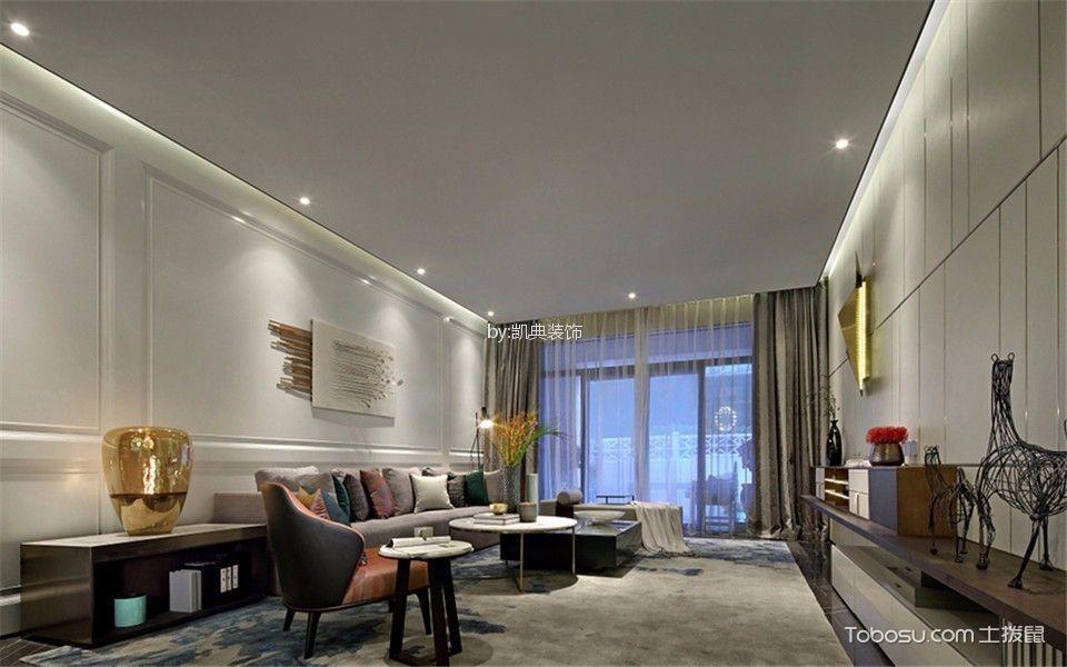 清江西苑120平现代简约风格两室两厅两卫装修效果图