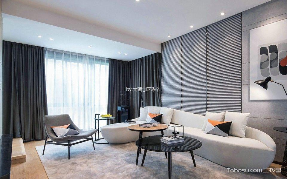 现代简约风格180平米四房两厅新房装修效果图