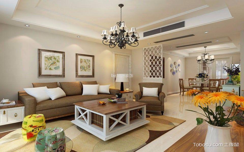 欧式风格114平米三房两厅新房装修效果图