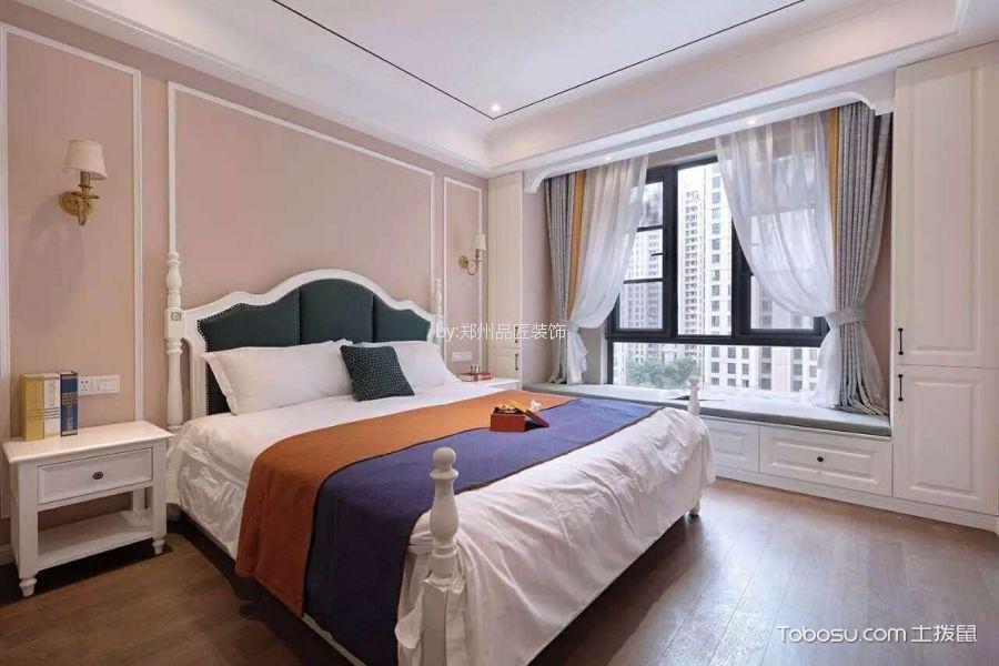卧室白色飘窗法式风格装饰效果图