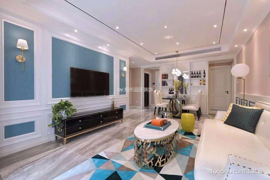 法式风格130平米大户型新房装修效果图