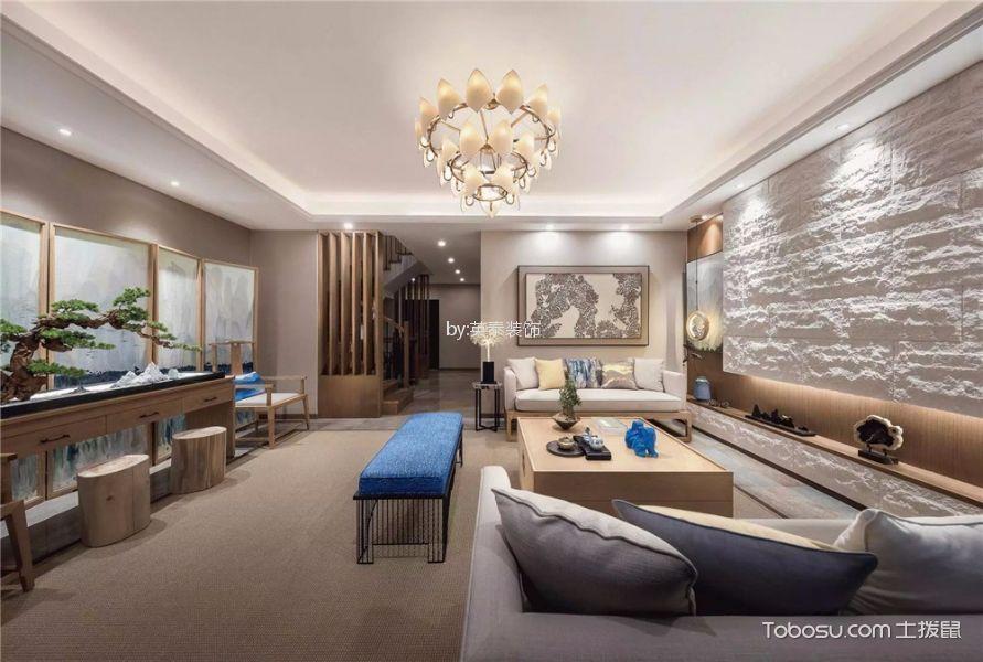 永惠漫谷300平新中式风格别墅装修效果图