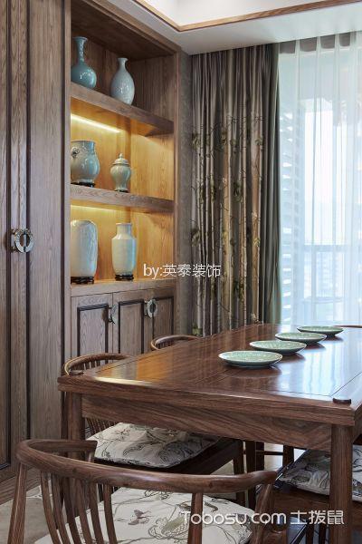 2020新中式餐厅效果图 2020新中式餐桌装修效果图片