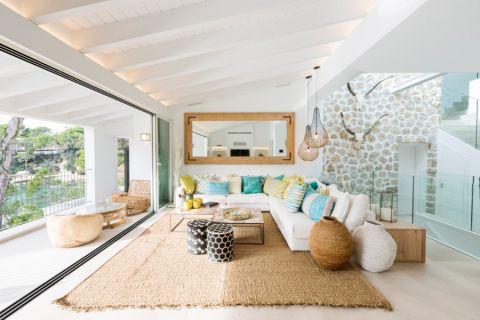 客厅北欧风格效果图大全2017图片_土拨鼠个性自然客厅北欧风格装修设计效果图欣赏