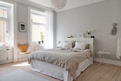 卧室北欧风格效果图大全2017图片_土拨鼠古朴质感卧室北欧风格装修设计效果图欣赏