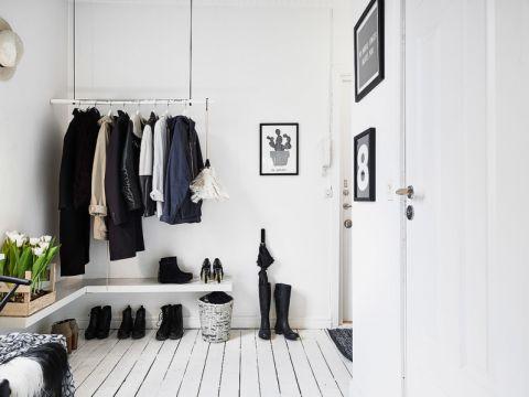 走廊北欧风格效果图大全2017图片_土拨鼠清爽纯净走廊北欧风格装修设计效果图欣赏