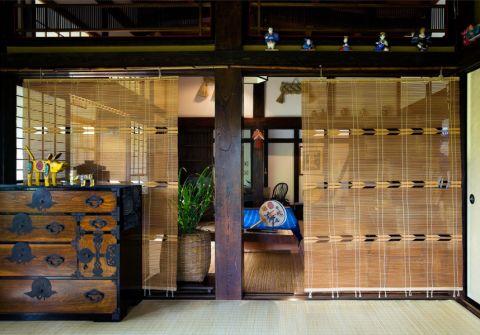 客厅日式风格效果图大全2017图片_土拨鼠优雅休闲客厅日式风格装修设计效果图欣赏