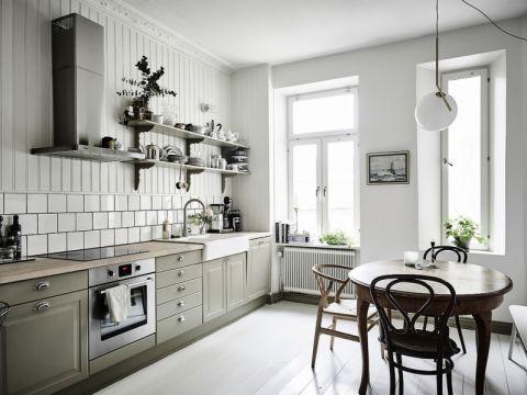 厨房北欧风格效果图大全2017图片_土拨鼠个性唯美厨房北欧风格装修设计效果图欣赏