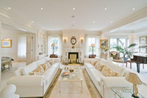 客厅简欧风格效果图大全2017图片_土拨鼠个性自然客厅简欧风格装修设计效果图欣赏