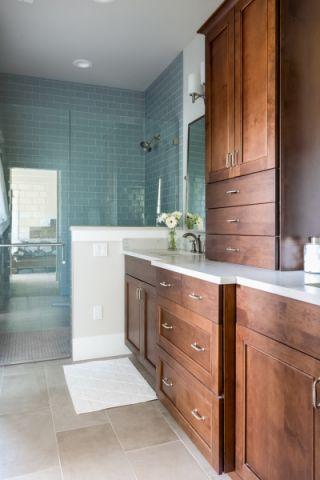 卫生间美式风格效果图大全2017图片_土拨鼠温馨雅致卫生间美式风格装修设计效果图欣赏