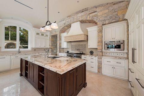 厨房地中海风格效果图大全2017图片_土拨鼠潮流温馨厨房地中海风格装修设计效果图欣赏