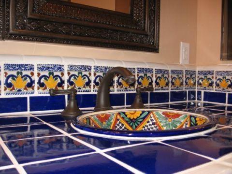 浴室地中海风格效果图大全2017图片_土拨鼠温暖舒适浴室地中海风格装修设计效果图欣赏