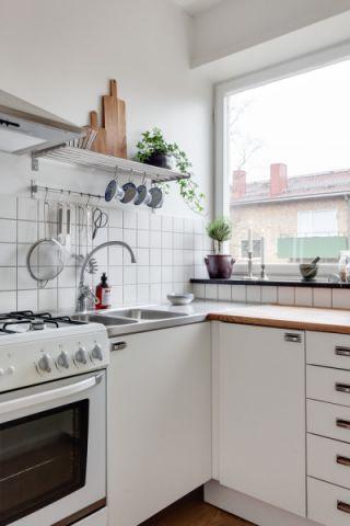厨房北欧风格效果图大全2017图片_土拨鼠清新质感厨房北欧风格装修设计效果图欣赏