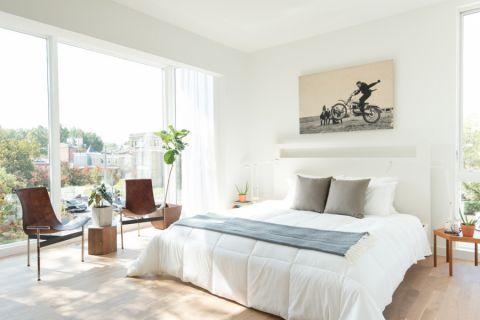 卧室北欧风格效果图大全2017图片_土拨鼠简洁优雅卧室北欧风格装修设计效果图欣赏