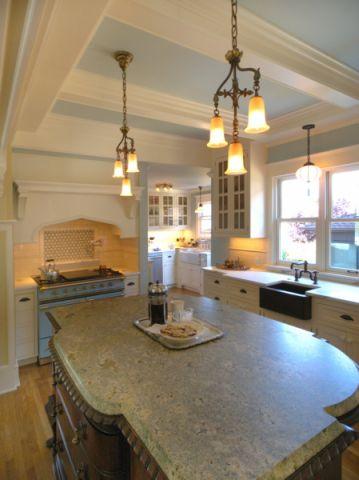 厨房简欧风格效果图大全2017图片_土拨鼠美感摩登厨房简欧风格装修设计效果图欣赏