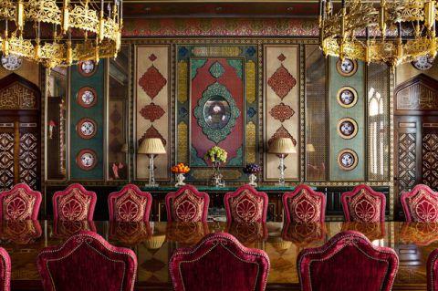 餐厅地中海风格效果图大全2017图片_土拨鼠优雅摩登餐厅地中海风格装修设计效果图欣赏