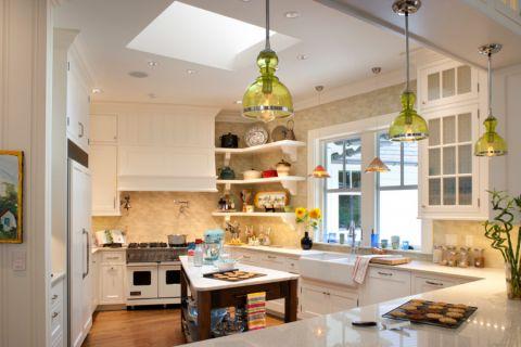 厨房简欧风格效果图大全2017图片_土拨鼠简洁创意厨房简欧风格装修设计效果图欣赏