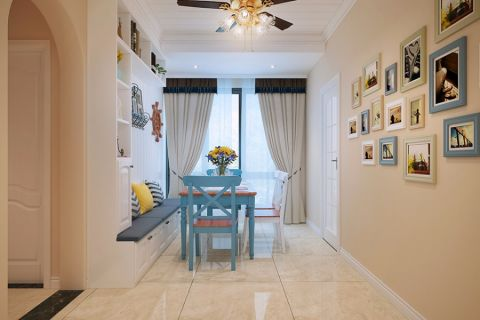 绿都紫荆华庭100平三室现代简约装修效果图