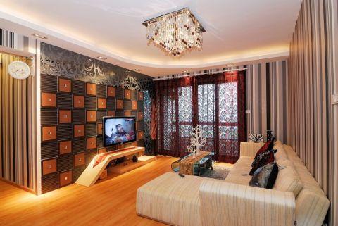 简约风格100平米小户型室内装修效果图