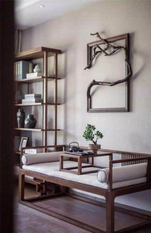 2020新中式书房装修设计 2020新中式背景墙图片