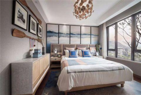 2020新中式卧室装修设计图片 2020新中式窗帘装修效果图片