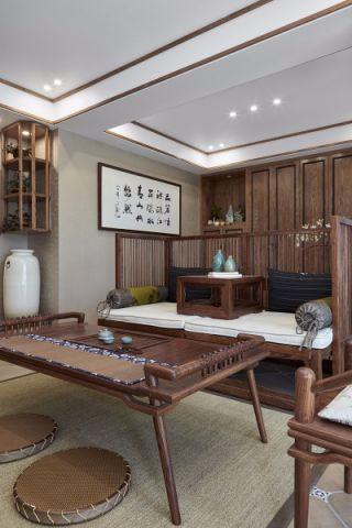 2020新中式客厅装修设计 2020新中式榻榻米装修设计图片