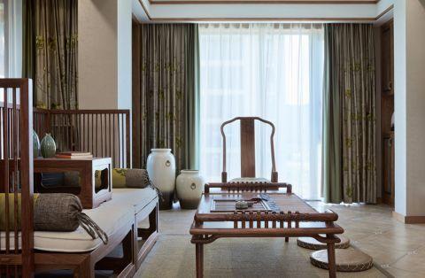 2020新中式客厅装修设计 2020新中式窗帘装修图