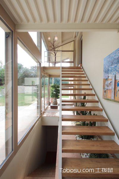 玄关咖啡色楼梯混搭风格装饰设计图片